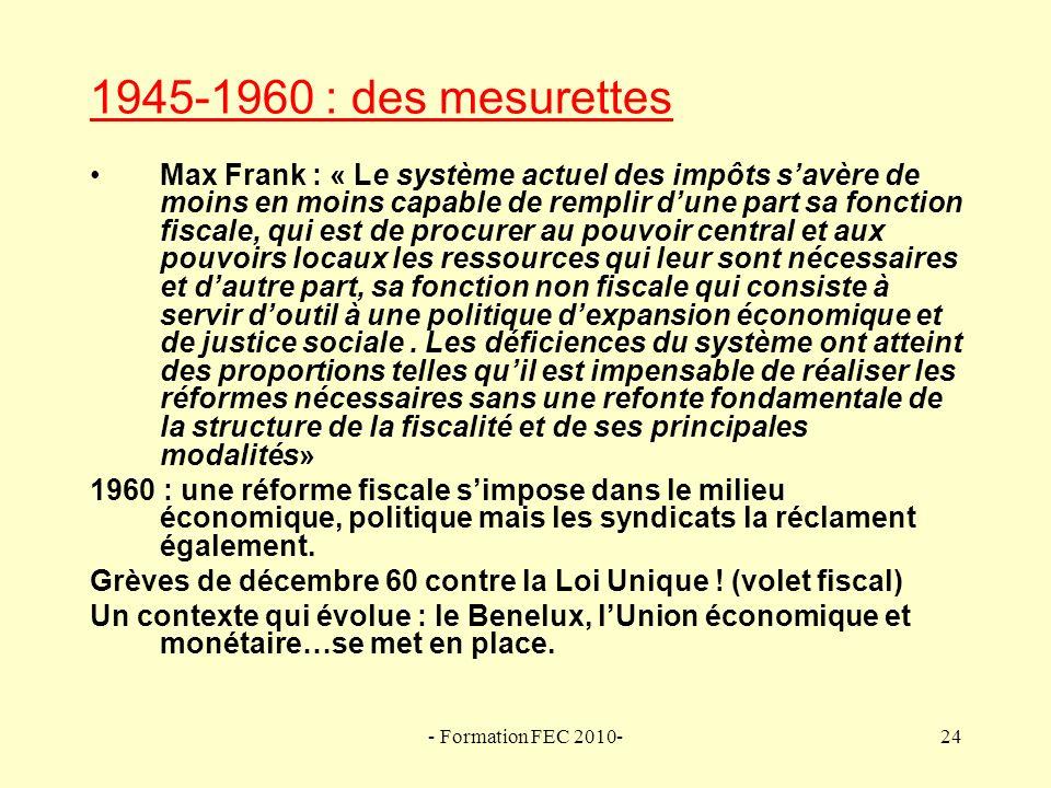 1945-1960 : des mesurettes