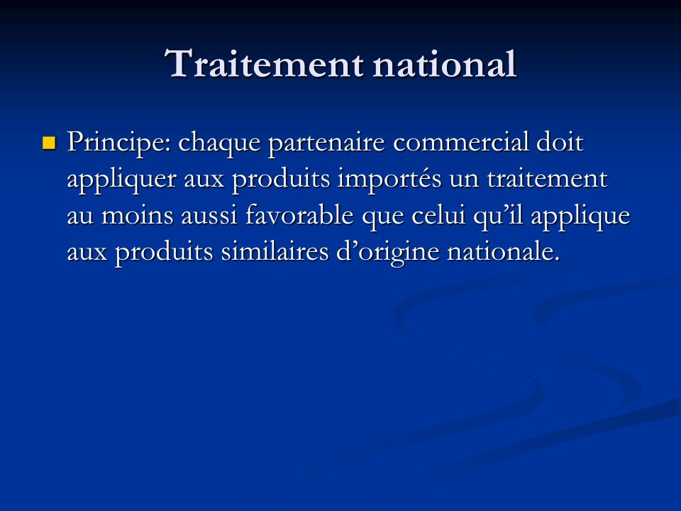 Traitement national
