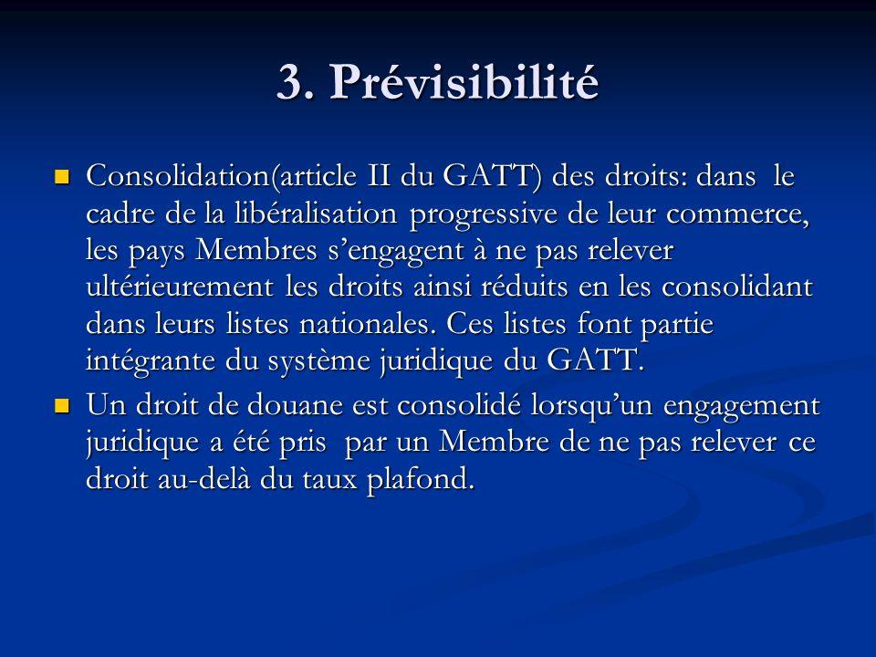 3. Prévisibilité