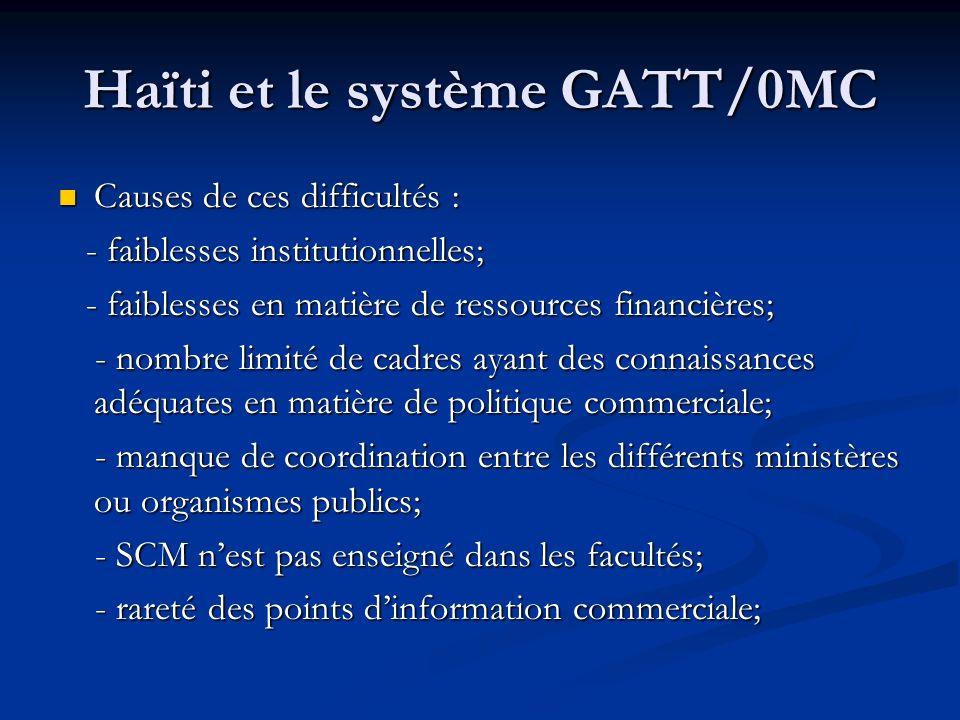 Haïti et le système GATT/0MC