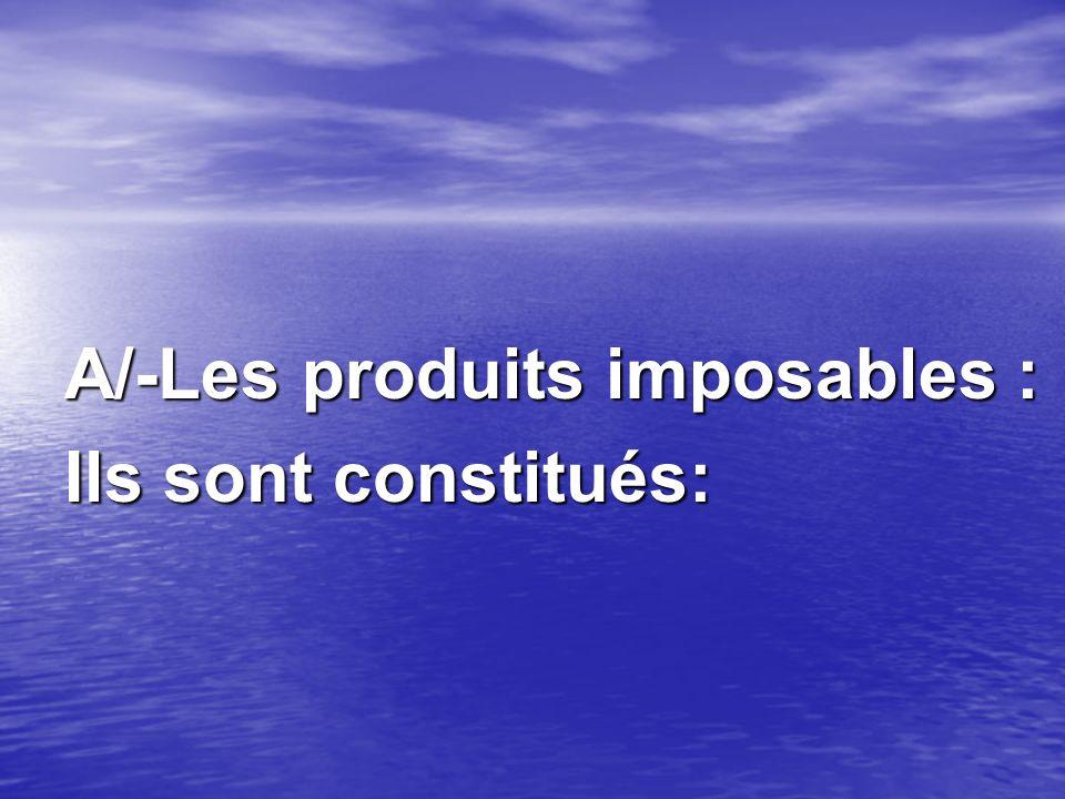 A/-Les produits imposables :