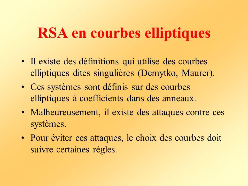 RSA en courbes elliptiques