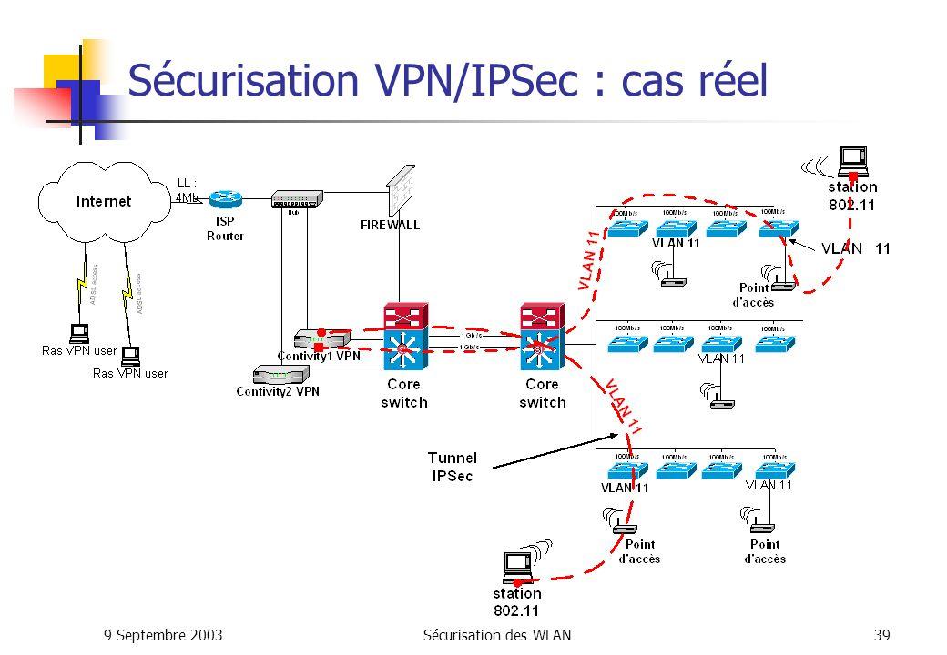 Sécurisation VPN/IPSec : cas réel