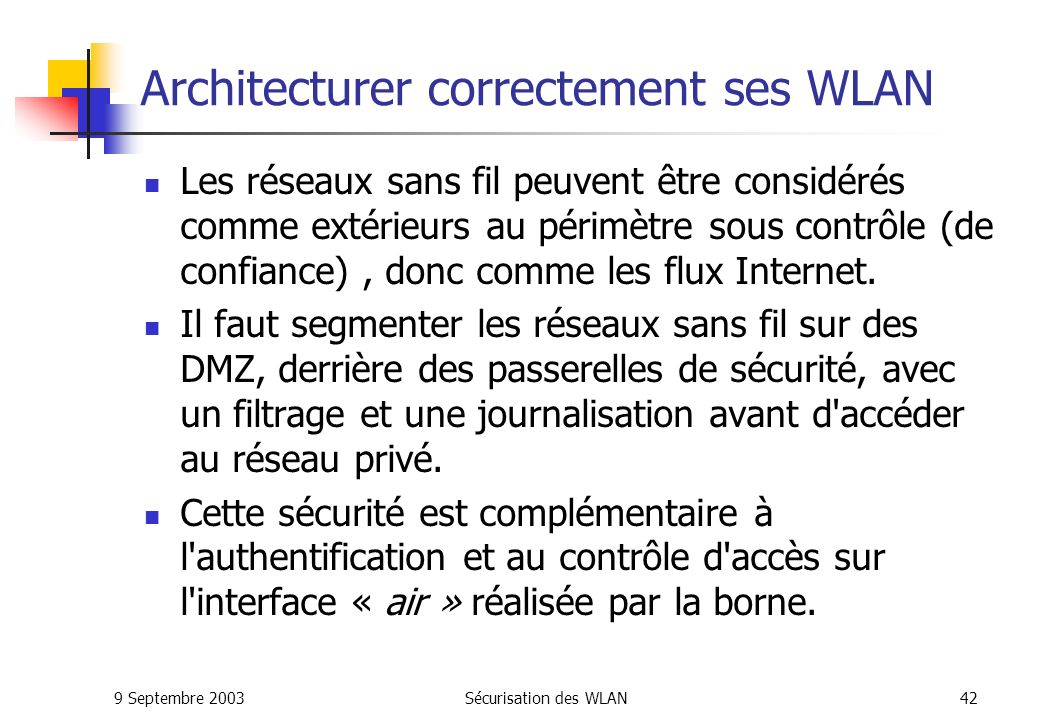 Architecturer correctement ses WLAN