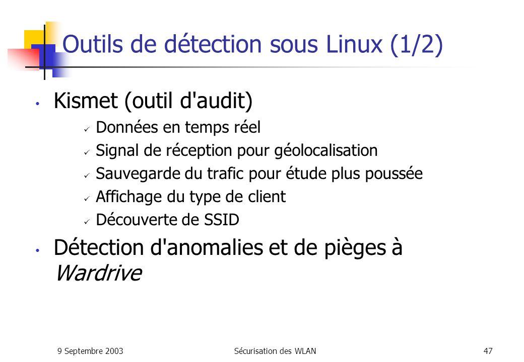 Outils de détection sous Linux (1/2)