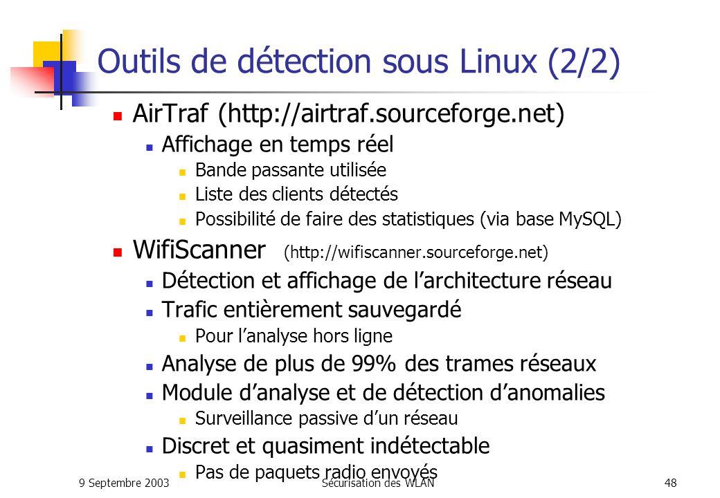 Outils de détection sous Linux (2/2)