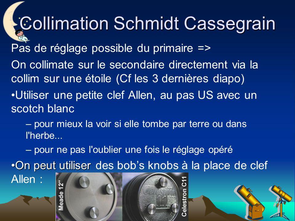 Collimation Schmidt Cassegrain