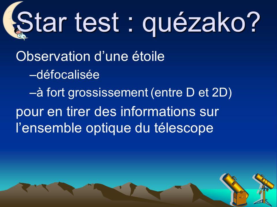 Star test : quézako Observation d'une étoile