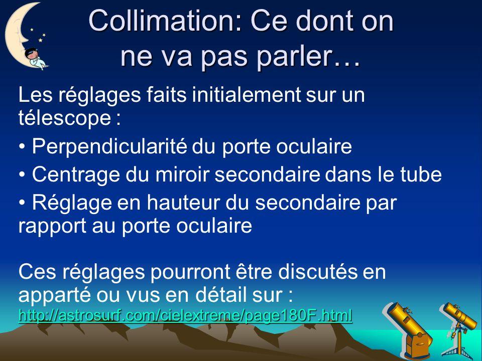 Collimation: Ce dont on ne va pas parler…