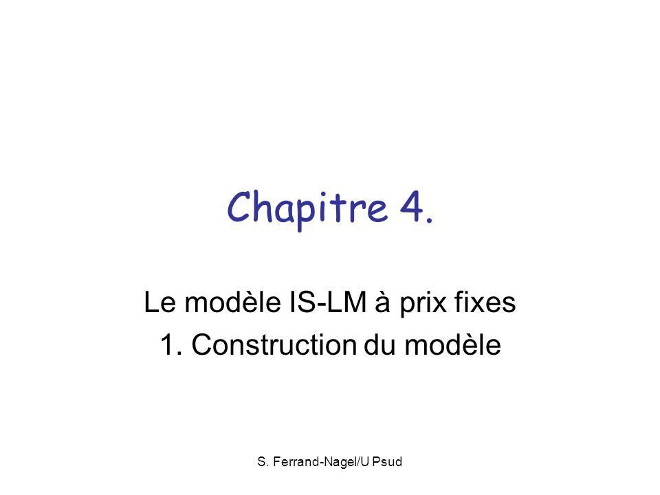 Le modèle IS-LM à prix fixes 1. Construction du modèle