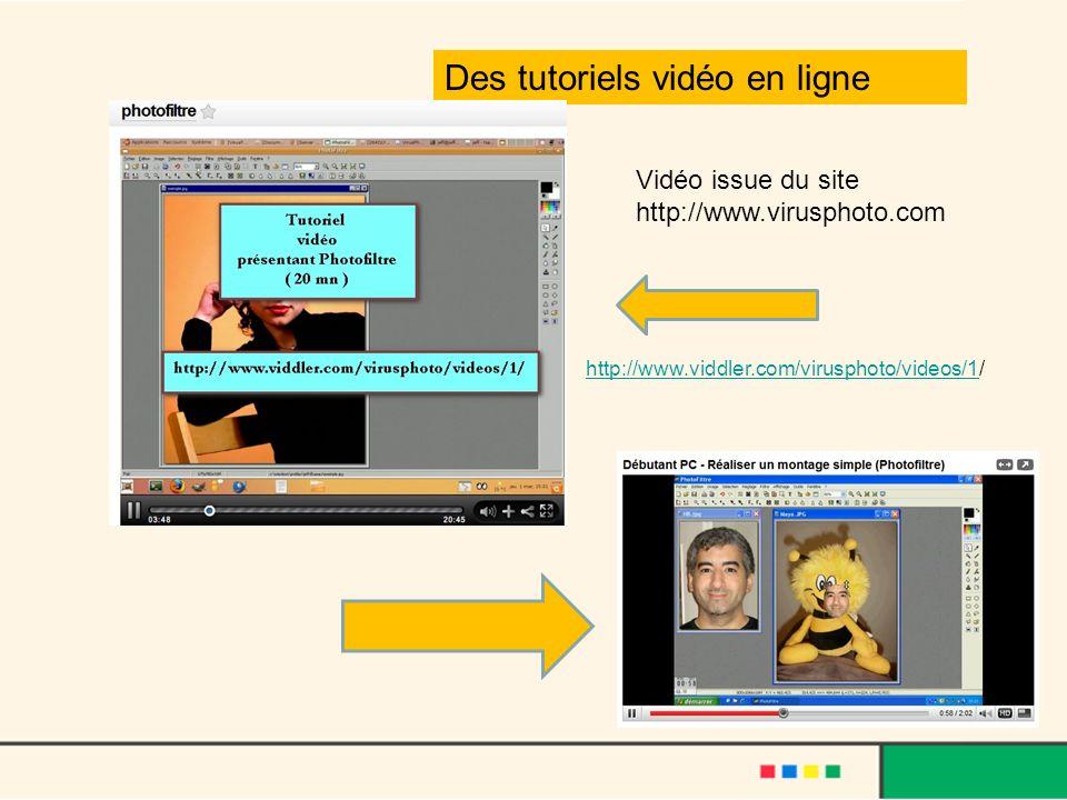 Des tutoriels vidéo en ligne