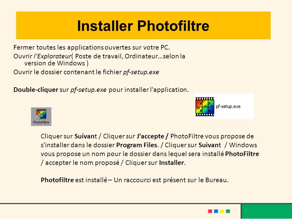 Installer Photofiltre