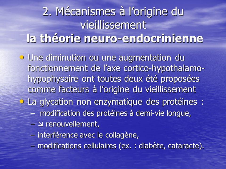 2. Mécanismes à l'origine du vieillissement la théorie neuro-endocrinienne