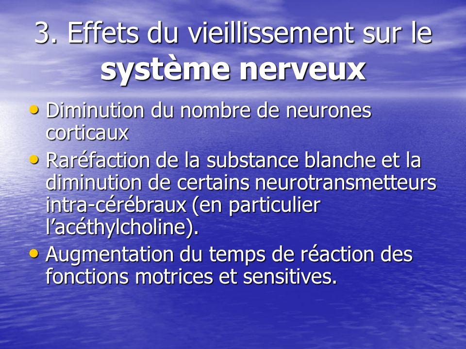 3. Effets du vieillissement sur le système nerveux
