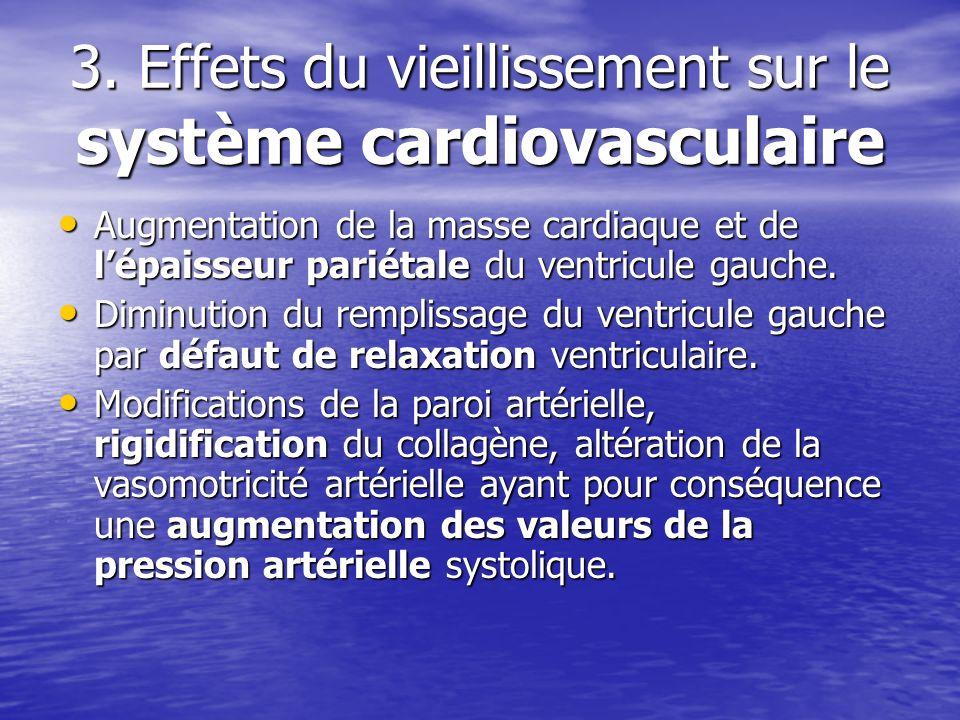 3. Effets du vieillissement sur le système cardiovasculaire