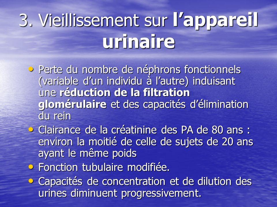 3. Vieillissement sur l'appareil urinaire