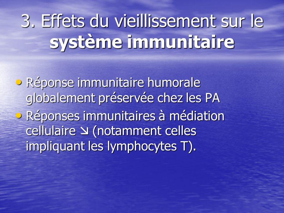 3. Effets du vieillissement sur le système immunitaire