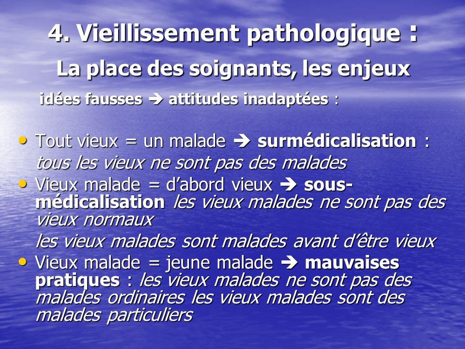 4. Vieillissement pathologique : La place des soignants, les enjeux