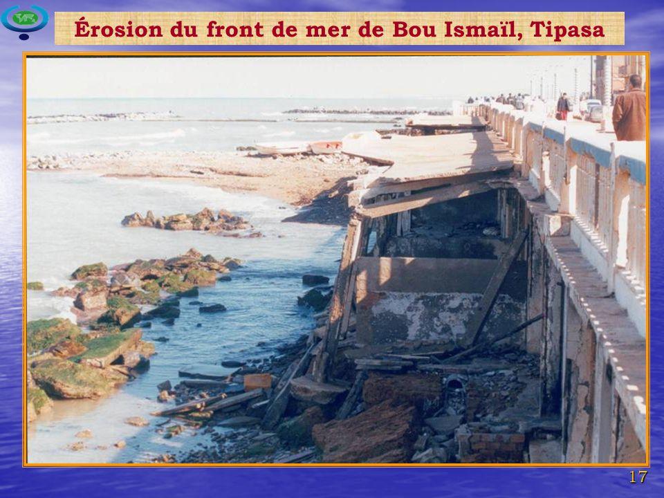 Érosion du front de mer de Bou Ismaïl, Tipasa
