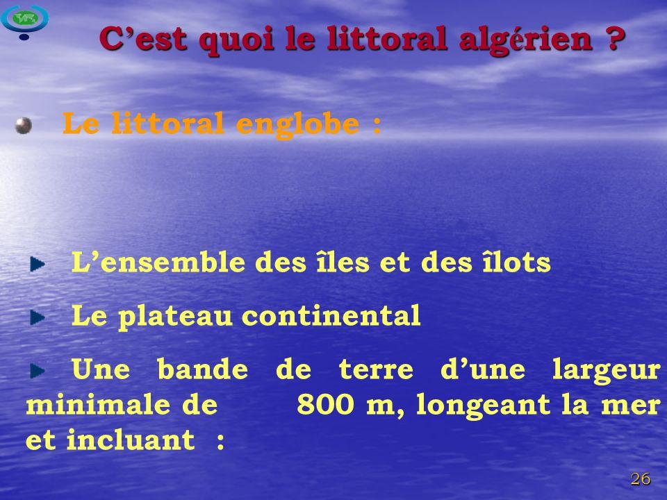 C'est quoi le littoral algérien