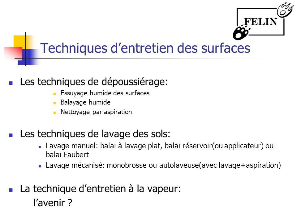 Techniques d'entretien des surfaces