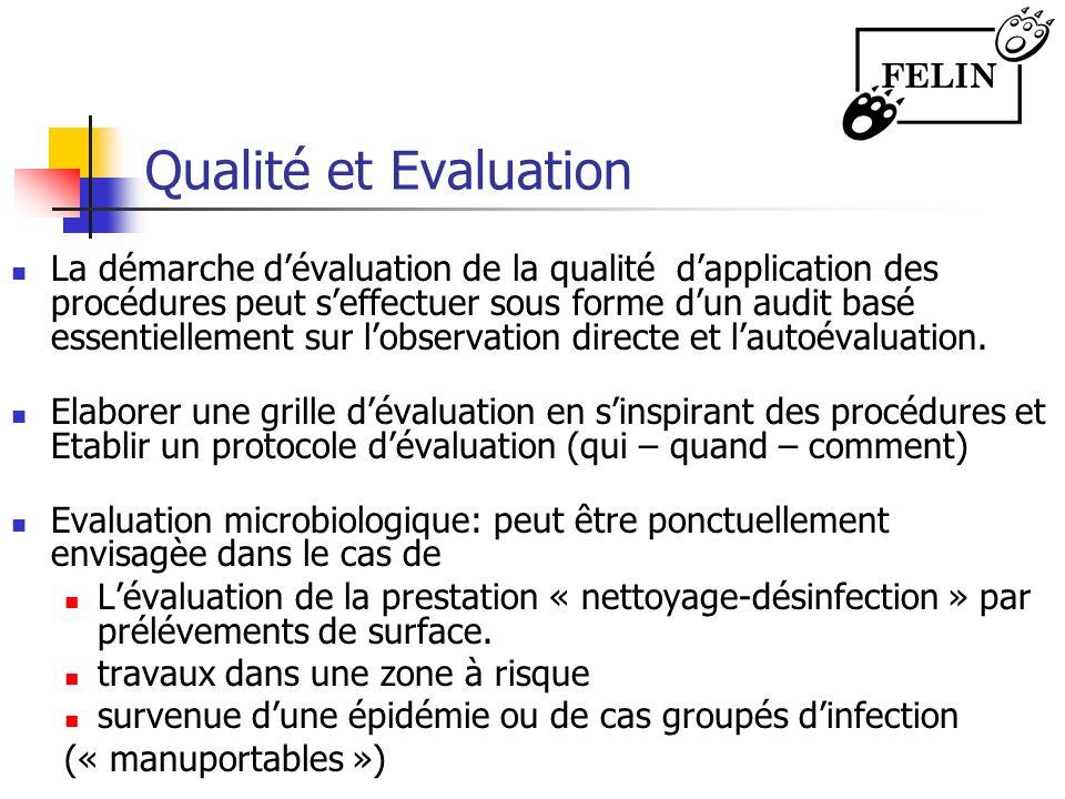 Qualité et Evaluation