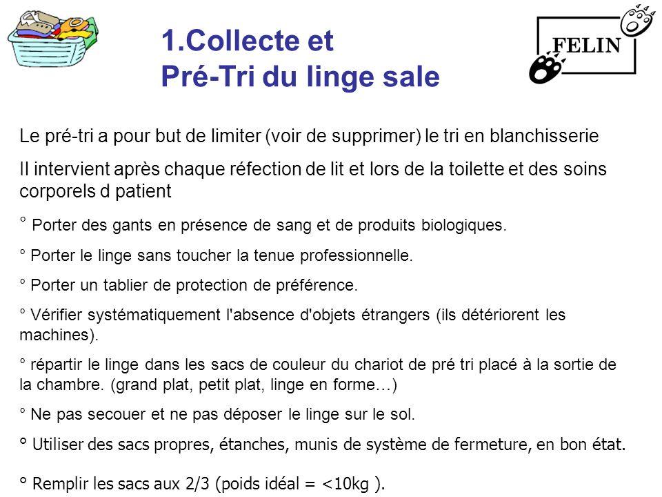 1.Collecte et Pré-Tri du linge sale