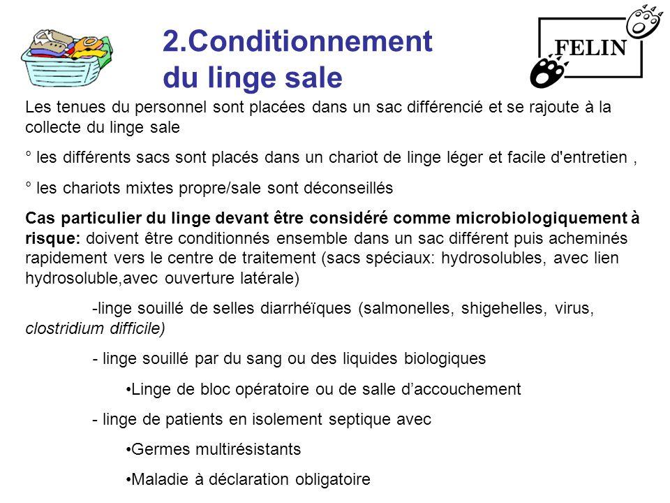2.Conditionnement du linge sale