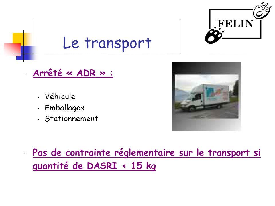 Le transport Arrêté « ADR » :