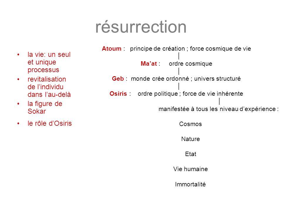 résurrection la vie: un seul et unique processus