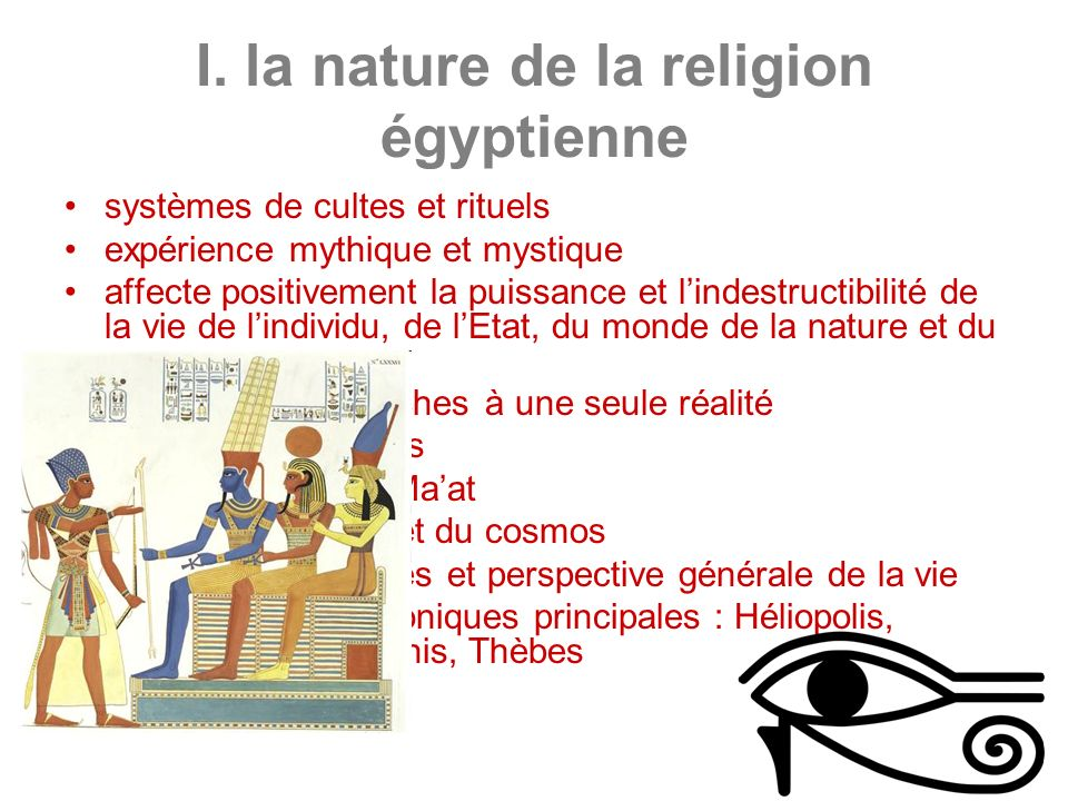 I. la nature de la religion égyptienne