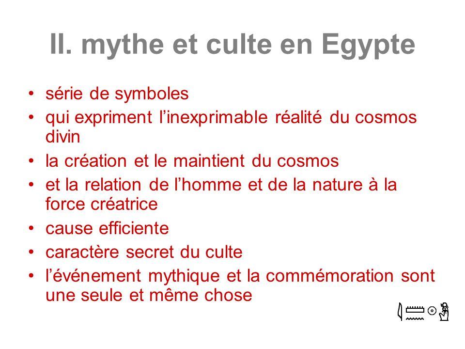 II. mythe et culte en Egypte