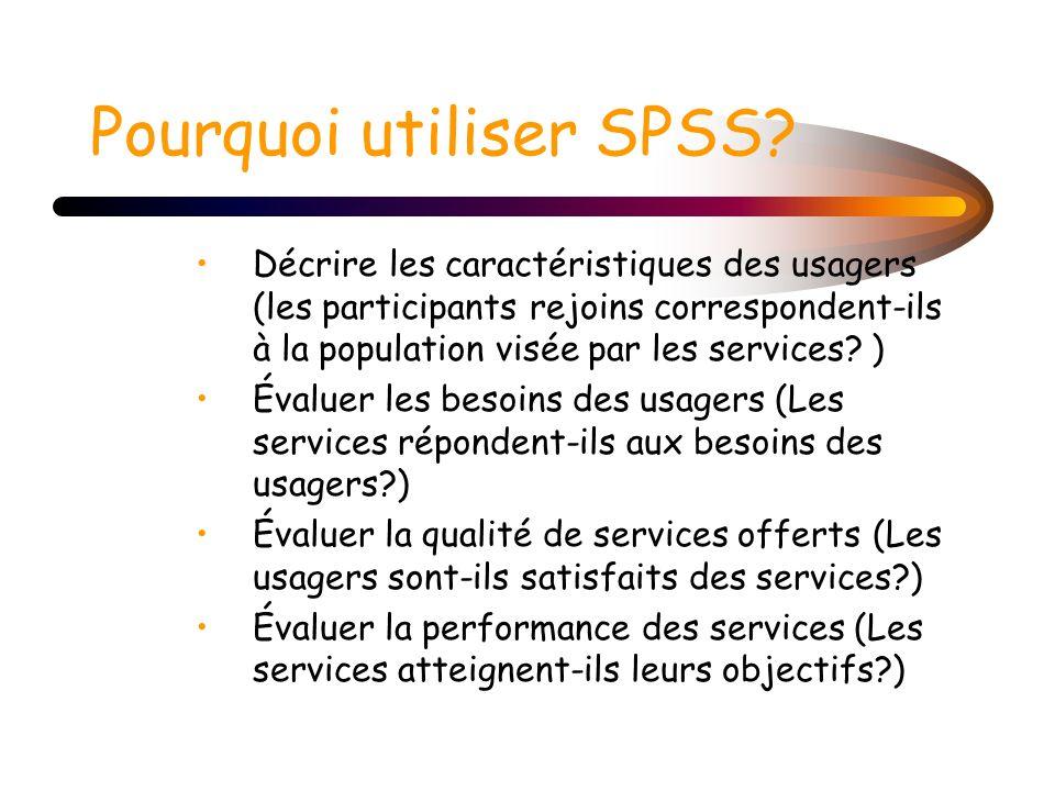 Pourquoi utiliser SPSS