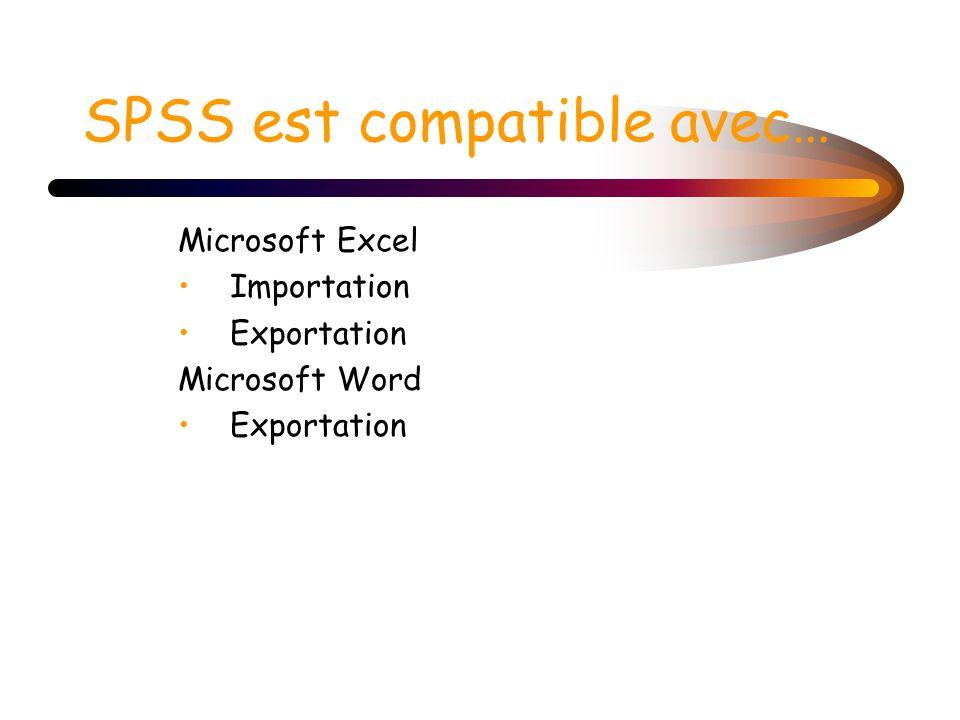 SPSS est compatible avec…