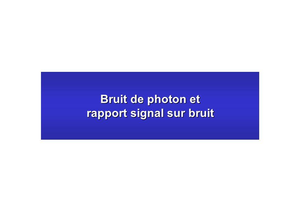 Bruit de photon et rapport signal sur bruit