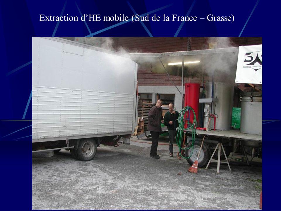 Extraction d'HE mobile (Sud de la France – Grasse)