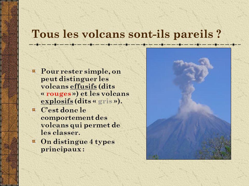Tous les volcans sont-ils pareils