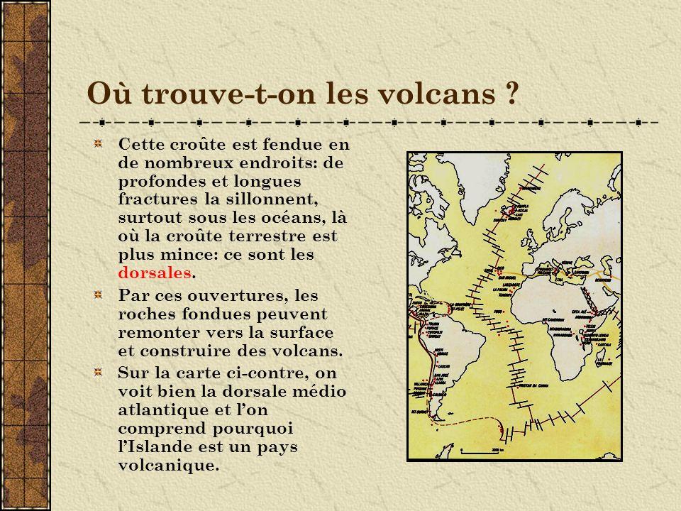 Où trouve-t-on les volcans
