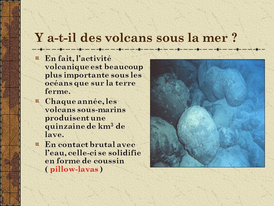 Y a-t-il des volcans sous la mer