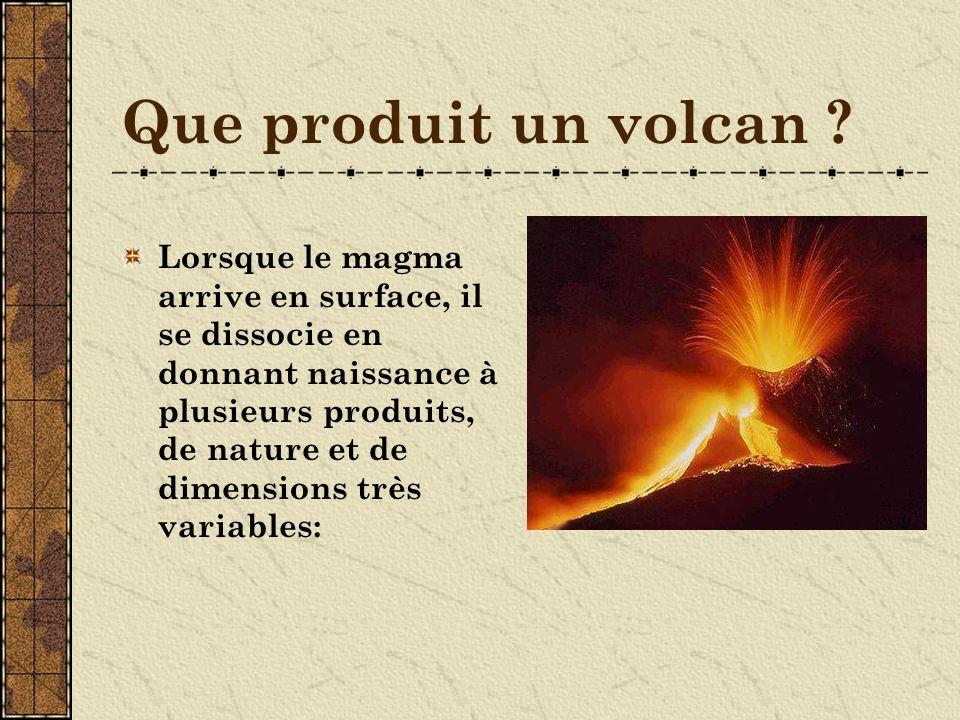 Que produit un volcan