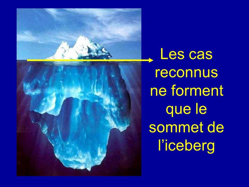 Les cas reconnus ne forment que le sommet de l'iceberg