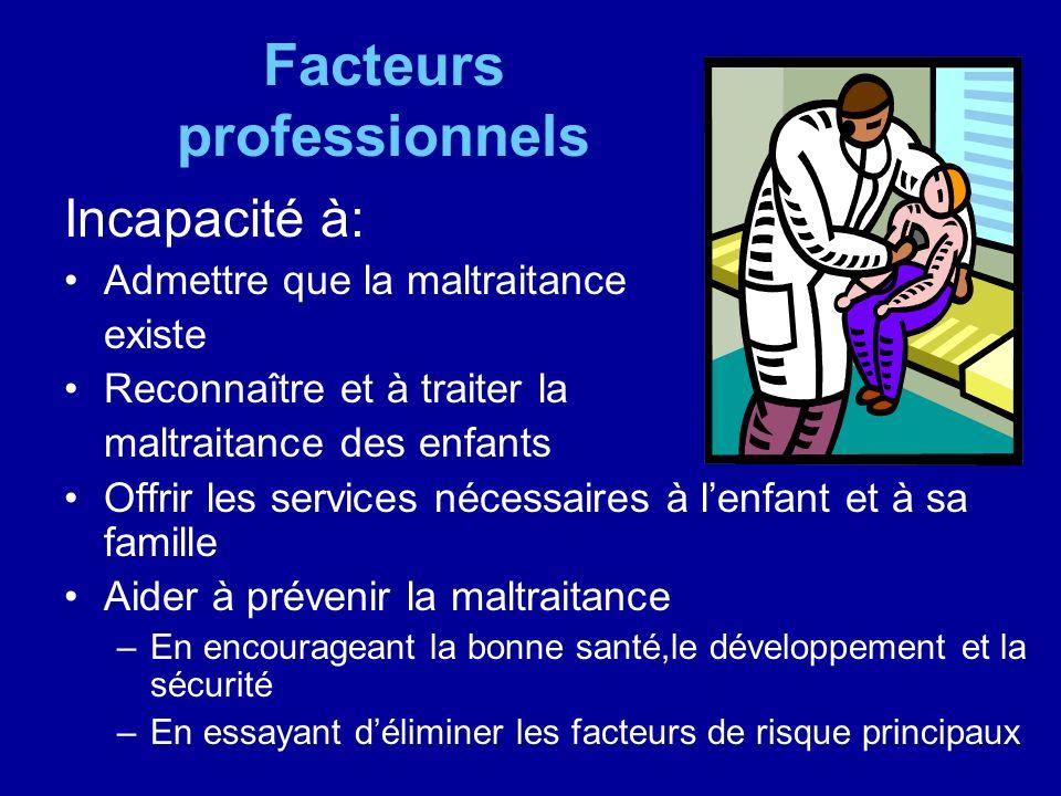 Facteurs professionnels