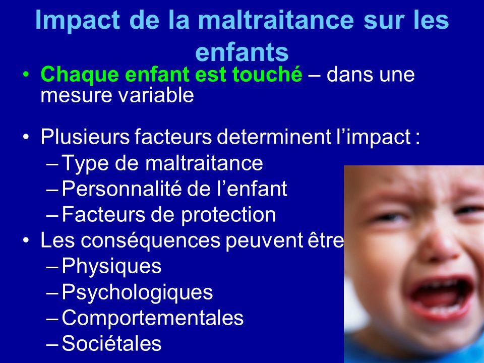 Impact de la maltraitance sur les enfants