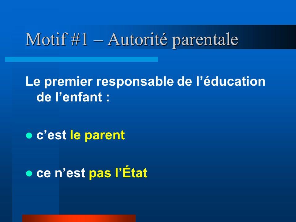 Motif #1 – Autorité parentale