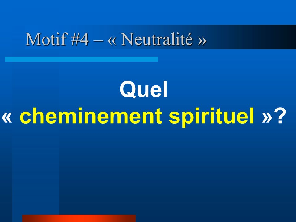 « cheminement spirituel »
