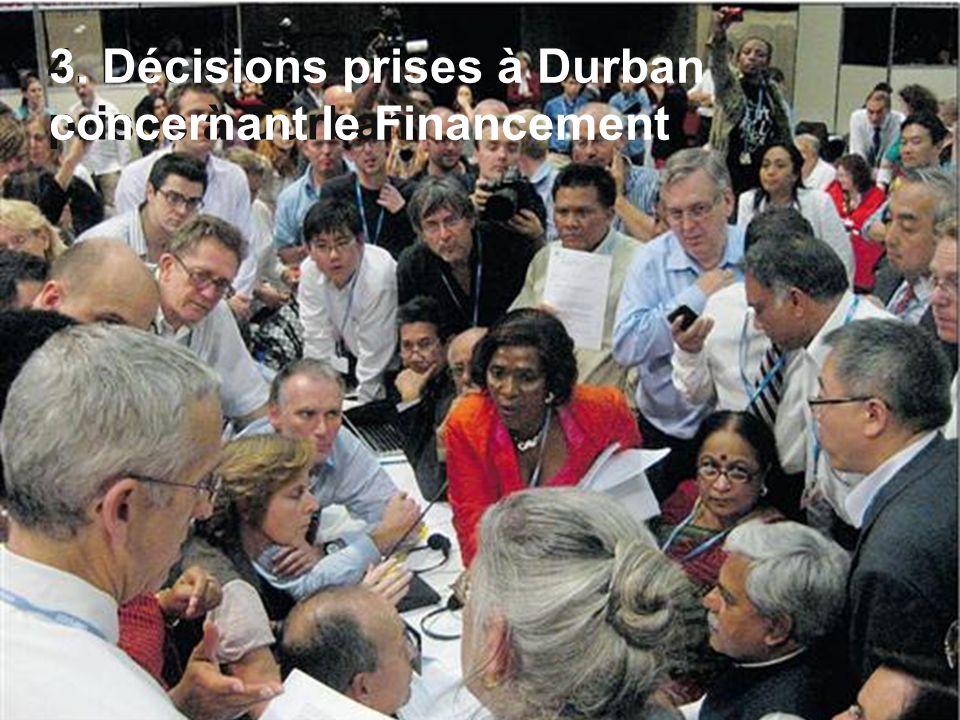 4. Décisions prises à Durban