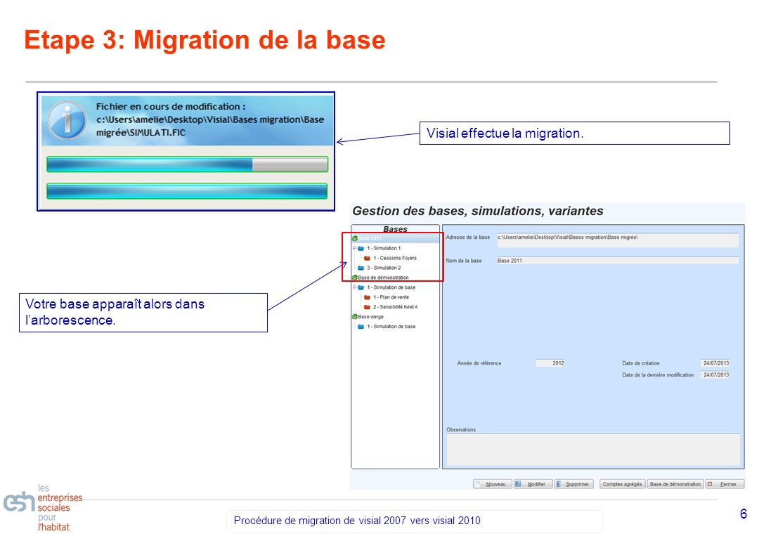 Etape 3: Migration de la base