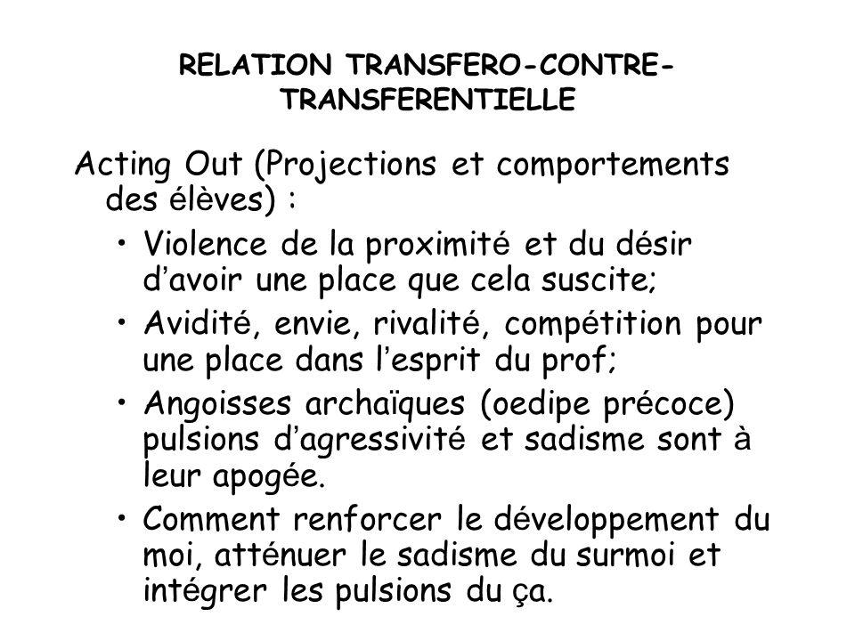 RELATION TRANSFERO-CONTRE-TRANSFERENTIELLE