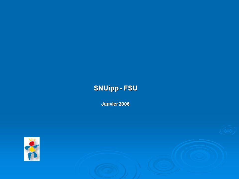 SNUipp - FSU Janvier 2006