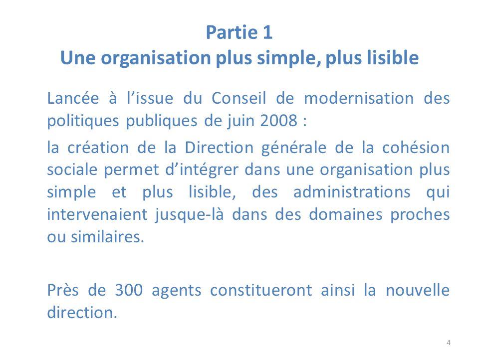 Partie 1 Une organisation plus simple, plus lisible